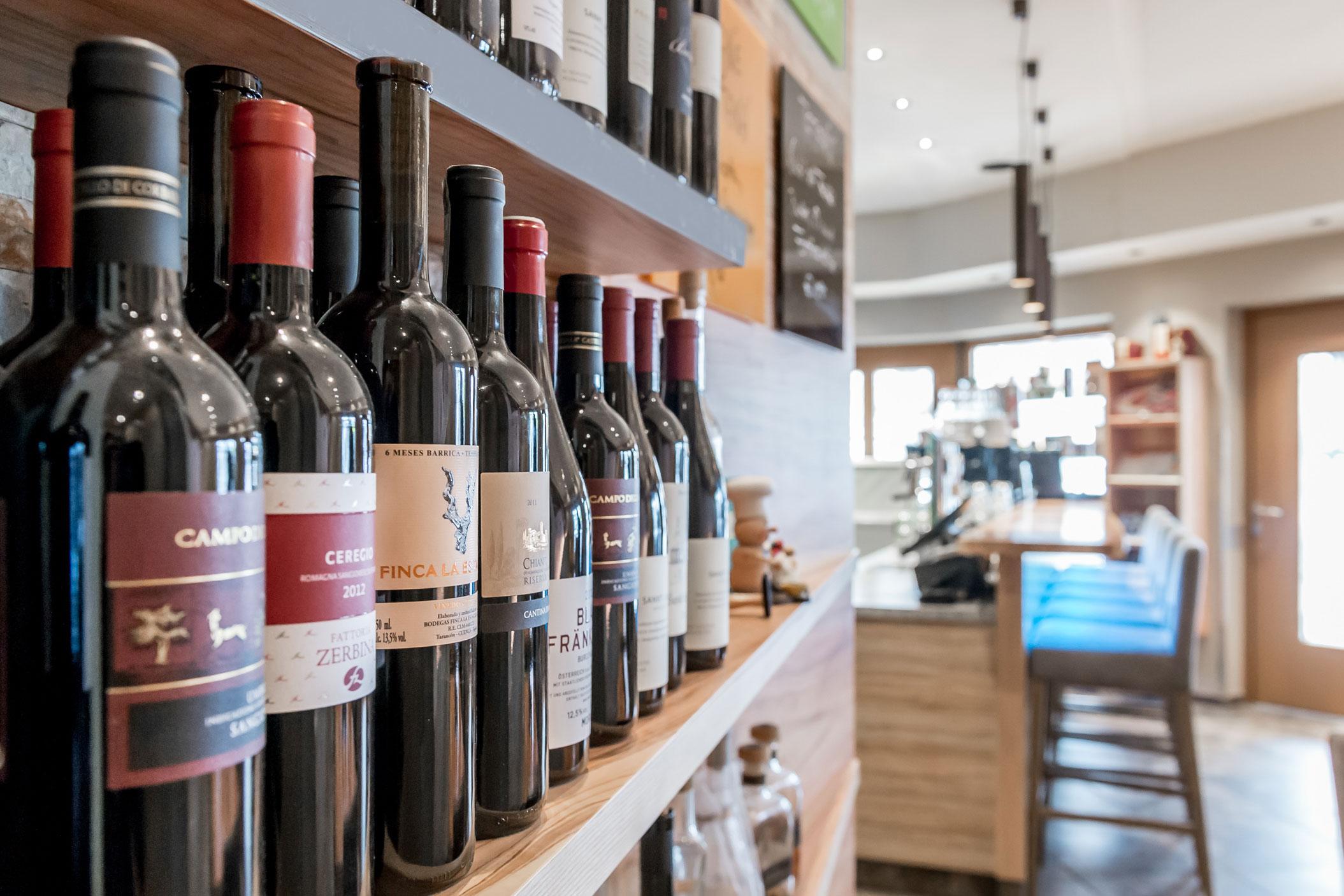Reichhaltige Weinauswahl